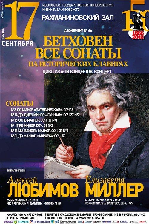 Бетховен. Все сонаты на исторических клавирах Алексей Любимов