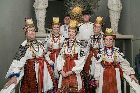 Завершился концерт выступлением фольклорного ансамбля «Воля» из Воронежа